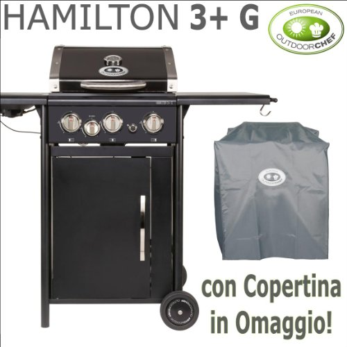 Barbecue à gaz OUTDOORCHEF – Hamilton 3 rectangulaire + G – avec offert
