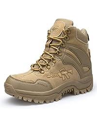3303401db66c3 Suetar Resistenti all Usura per Gli Uomini e Scarpe da Trekking Militari in  Pelle Scamosciata