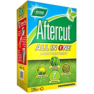 Aftercut All In One Lawn Feed, Weed and Moss Killer, 150 m2, 5.25 kg