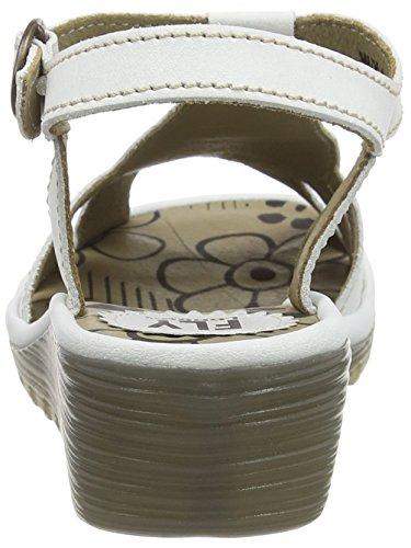FLY London Damen Oily Offene Sandalen Weiß (Offwhite 026)