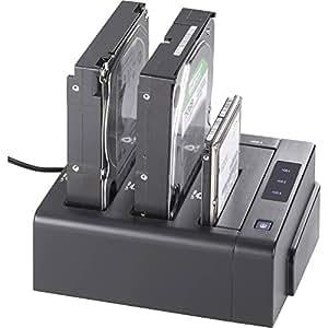 Station d'accueil pour disque dur renkforce 1195298 - USB 3.0, eSATA - SATA - 3 ports