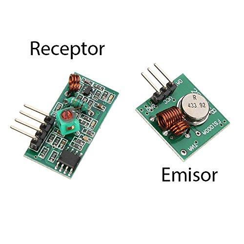 Módulo Emisor y Receptor RF 433MHz Inalambrico control remoto receiver