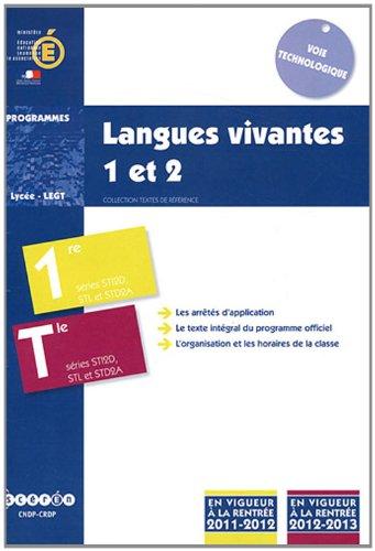Langues vivantes 1 et 2 1e et Tle STI2D, STL et STD2A : Programmes