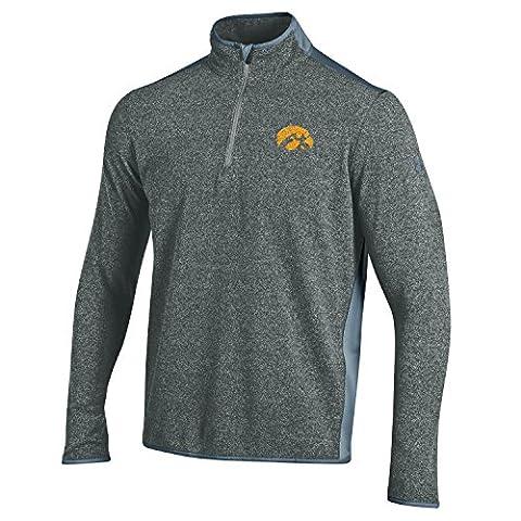 NCAA Iowa Hawkeyes Micro Fleece Quarter Zip Jacket, Small, Gray