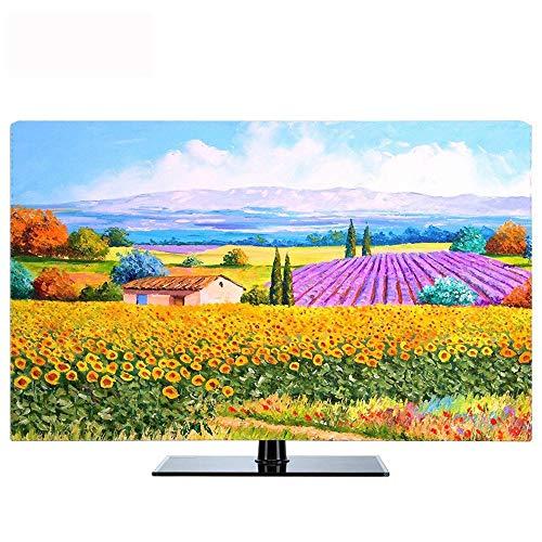 ZHhome TV-Abdeckung Staubschutz, Abdeckungsart 55-Zoll-65-LCD-TV-Staubschutztuch, Wetterfester Universalschutz for LED- Und Plasma-Fernsehgeräte (Color : Pattern 5, Size : 65in)