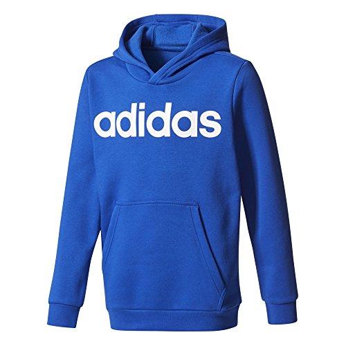 adidas Jungen Linear Hoody, Collegiate Royal/White, 152 (Hoodie Fleece Adidas)