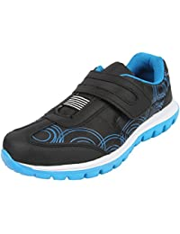 Mmojah Women's Eva Black & Blue Running Shoes-5