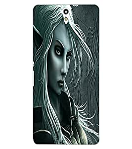 ColourCraft Vamp Look Design Back Case Cover for SONY XPERIA C5 ULTRA
