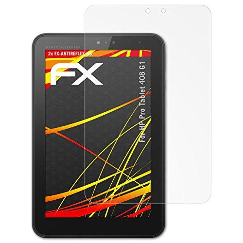 atFolix Schutzfolie kompatibel mit HP Pro Tablet 408 G1 Bildschirmschutzfolie, HD-Entspiegelung FX Folie (2X)