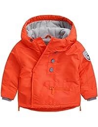 Happy Cherry - Chaqueta Abrigo Invierno Ropa para Bebés Niños de Algodón con Capucha Espesar Cálida Coat Winter Kid - Gris - Talla ES 12-18 Meses 18-24mese 2-3años 4-5años 6-7años