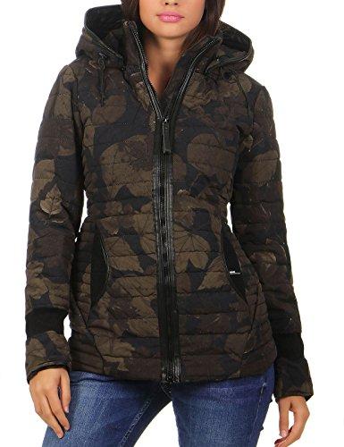 KHUJO Damen Stepp-Jacke MIDD camouflage in L
