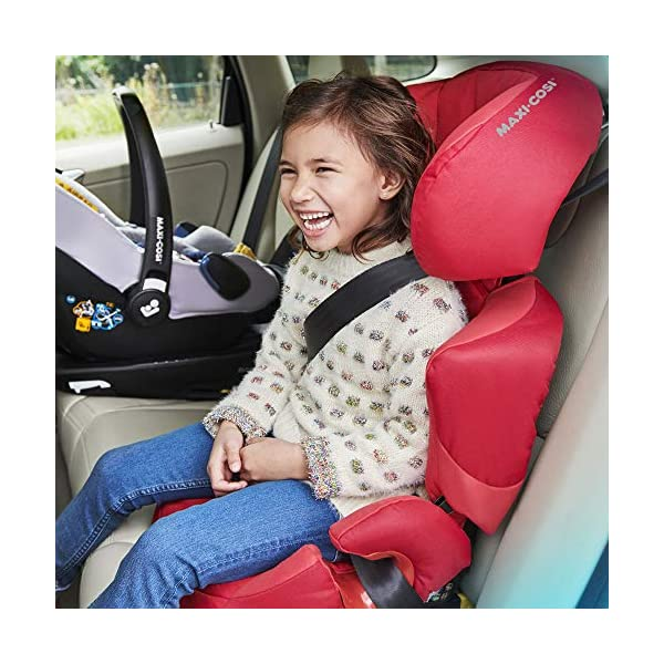 Maxi-Cosi Rodi XP FIX Child Car Seat, ISOFIX Booster Car Seat, Lightweight, 3.5-12 Years, 15-36 kg, Electric Blue Maxi-Cosi Booster car seat for children from 15 to 36 kg (3.5 to 12 years) Side protection system for optimal protection against side impact for head, lower back and hips Backrest of this lightweight car seat grows along with child in length and width 6