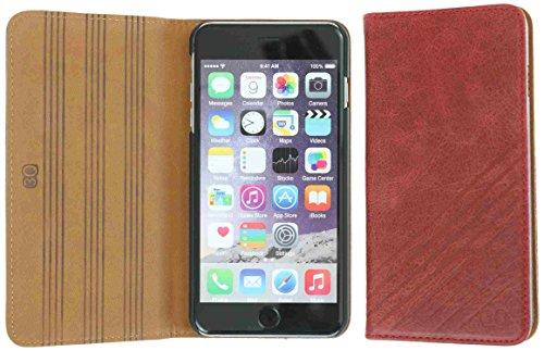 3Q Lussuosa Flip Cover iPhone 6 Cover iPhone 6S Custodia iPhone 6 Vera Pelle Novità maggio 2016 Vero Cuoio Top Design esclusivo Svizzero Apple Cover Rosso