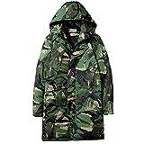 TWBB Herren Mantel Hoodie Camouflage Lange Kapuzenpullover Cardigan Coat Pullover Mit Reißverschluss Outwear Sweatshirt Langarm