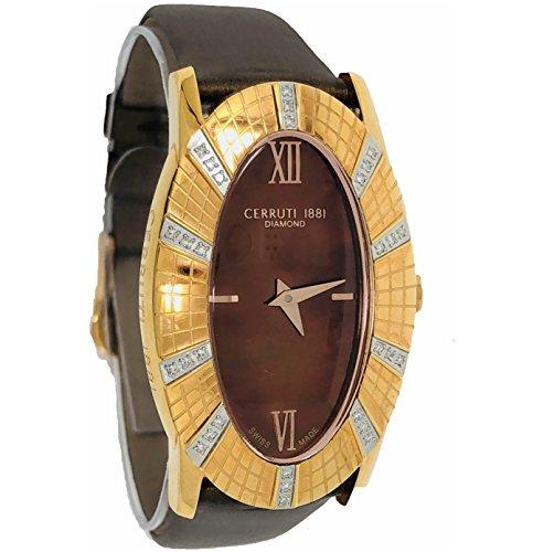 Cerruti 1881 Diamond - Reloj para mujer, 26 x 42 mm, oro rosa, 30 diamantes