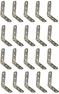 Starvast Lot de 30 /équerres plates droites en acier inoxydable 100 mm Noir