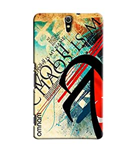 Omnam Chaos Is My Name Printed Designer Back Cover Case For Sony Xperia C5