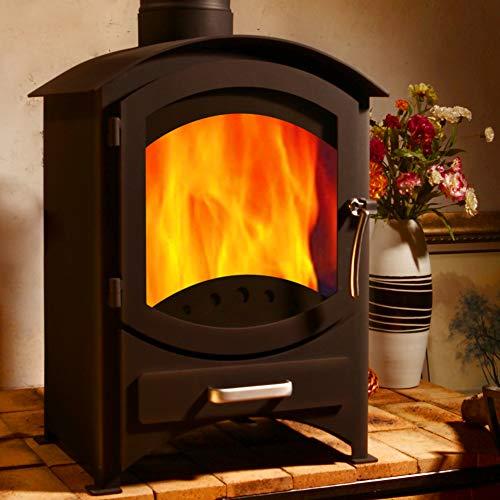 Garanzia a vita 5.5KW efficienza 81% stufa in ghisa legno carbone