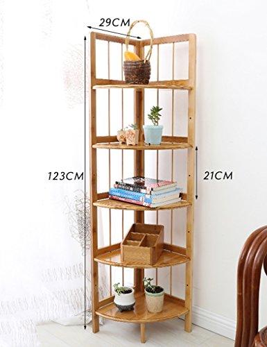 5 Tier-ecke Bücherregal (FXQ Büro-Bücherregale Corner Stand Multi-Layer-Wohnzimmer Floorstanding Corner Frame Lagerung Regal Einfache Ecke Regal Badezimmer Regal ( Farbe : 5-Tier ))
