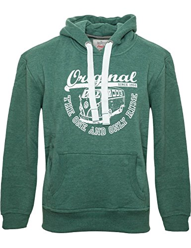 Männer Hoodie Van One VW Bulli »ORIGINAL RIDE« New Green / White