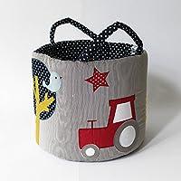 ★ Ø35 Maxi Spielzeug-Tasche,Aufbewahrungsbox,Traktor ★