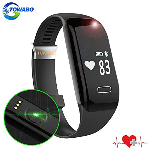 TOWABO Fitness Tracker with Heart Rate monitor E3S Activity Watch Step Walking Sleep Counter Wireless Wristband Pedometer Exercise Tracking Sweatproof Sports Bracelet for Android and iOS