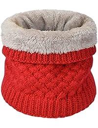 heekpek Calentador de Cuello Bufanda de Tubo Lazo para Hombre y Mujer Multifuncional Grueso y Cálido Bufanda y Gorra para Deportes de Invierno Desgaste de Pareja Fulares