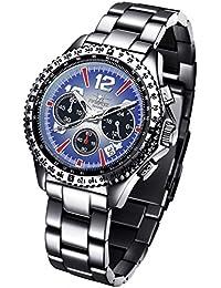 Reloj FIREFOX (SEIKO) RACER FFS15-103 de acero inoxidable Cronógrafo Azul