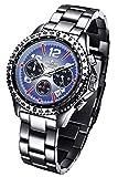 FIREFOX RACER FFS15-103 blau Herrenuhr Armbanduhr Chronograph massiv Edelstahl Sicherheitsfaltschließe 10 ATM Prüfdruck