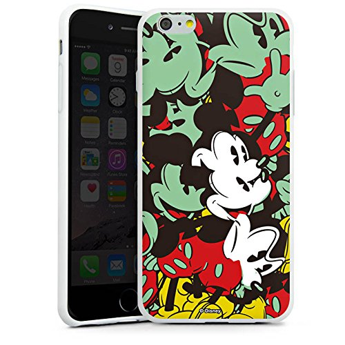 Apple iPhone X Silikon Hülle Case Schutzhülle Disney Mickey Mouse Geschenke Silikon Case weiß
