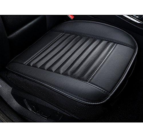 BeautyPO Universal Auto Sitzauflage PU Leder Comfortable 21 x 20 Inches (1 PC Schwarz)