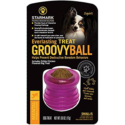 Starmark Everlasting Groovy Ball Dog Toy, Small