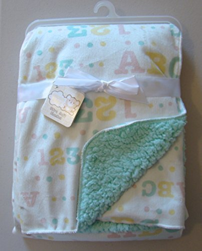 snugly-baby-unisex-sherpa-baby-blanket-abc-123-yellow-green-on-white-30x40-by-snugly-baby