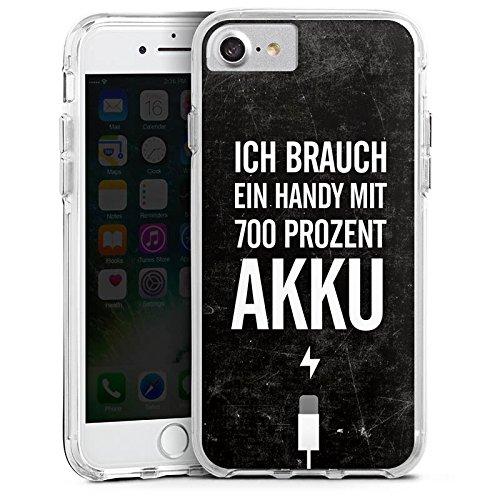 Apple iPhone X Bumper Hülle Bumper Case Glitzer Hülle Akku Handy Phrases Bumper Case transparent