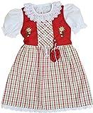 Schrammel Kinderdirndl mit Unterrock Rot Grün Karo (74-80, Lila-Apfelgrün)