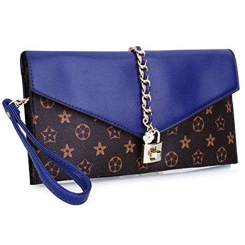 YYW Evening Bag, Poschette giorno donna Blue