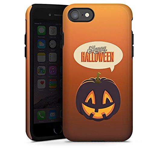 Apple iPhone X Silikon Hülle Case Schutzhülle Halloween Kürbis Herbst Tough Case glänzend
