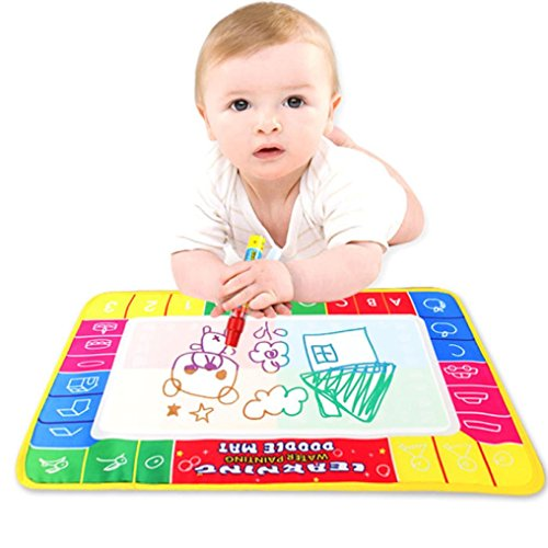 Covermason Magical Water Drawing Painting Writing Mat Board Magic Pen Doodle Kids Toy Gift 29X19cm