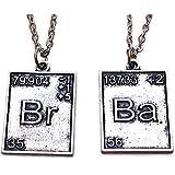 Breaking Bad. 2 x Tavola periodica del pendente di tono argento