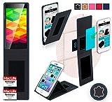 reboon Hülle für Ulefone BE X Tasche Cover Case Bumper | Schwarz Leder | Testsieger