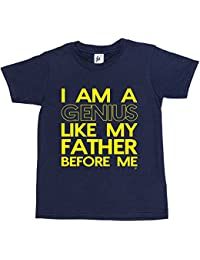 Fancy A Snuggle I Am A Genius Like My Father Before Me Funny Kids Boys / Girls T-Shirt