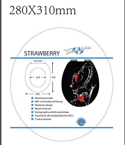 TrendLine WC-Sitz Strawberry Absenkautomatik Toilettensitz WC-Deckel Erdbeeren