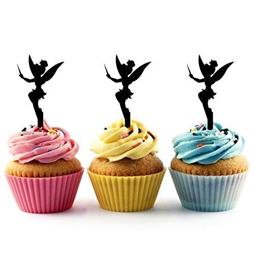 Tinkerbell Peter Pan Kuchenaufsätze Hochzeit Geburtsta Acryl Dekor Cupcake Kuchen Topper Stand für Kuchen Party Dekoration 10 Stück