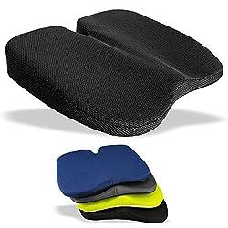 Medipaq Freiheits - Keilkissen - Großartig zur Steißbeinentlastung, Lendenstütze, Rückenschmerzen Beim Autofahren Oder Zu Hause