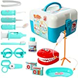 15Pcs Toddlers Dentist Role Play Set,Kids Doctor Pretend Play Toy, With Carry Case For School Classroom By Leoie