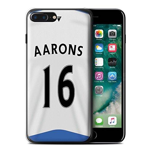 Officiel Newcastle United FC Coque / Etui pour Apple iPhone 7 Plus / Rivière Design / NUFC Maillot Domicile 15/16 Collection Aarons