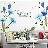 CDKJ Lirios Azules, sofá, Pegatinas Decorativas de Pared