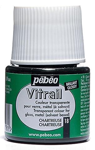 Pebeo Vitrail Glasmalfarbe, Buntglaseffekt, 45ml, Hellgrün