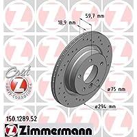 2 Stück SPORT-BREMSSCHEIBE COAT Z Zimmermann 180.3012.52 Bremsscheibe