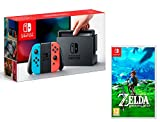 Nintendo Switch Konsole 32Gb Neon-Rot/Neon-Blau + The Legend of Zelda: Breath of the Wild